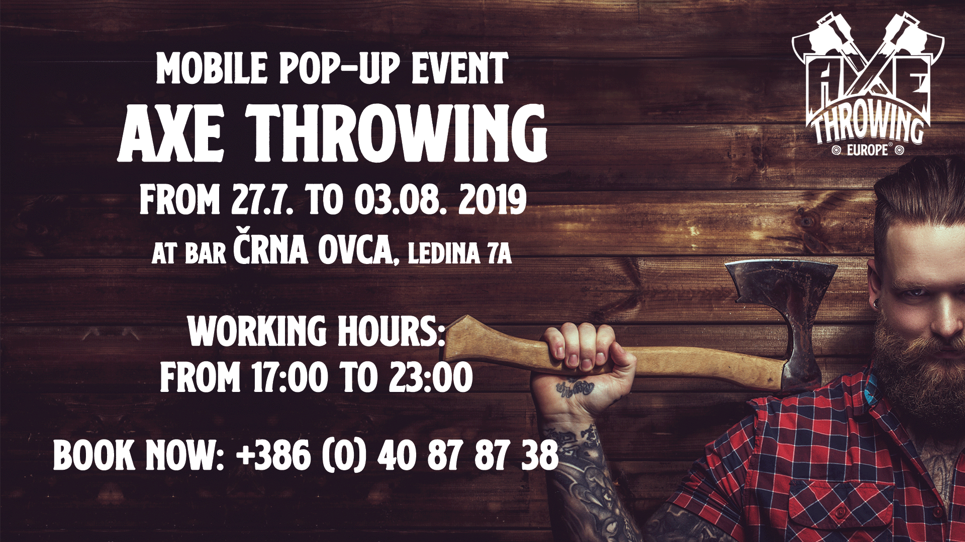 axe throwing sekiromet bovec